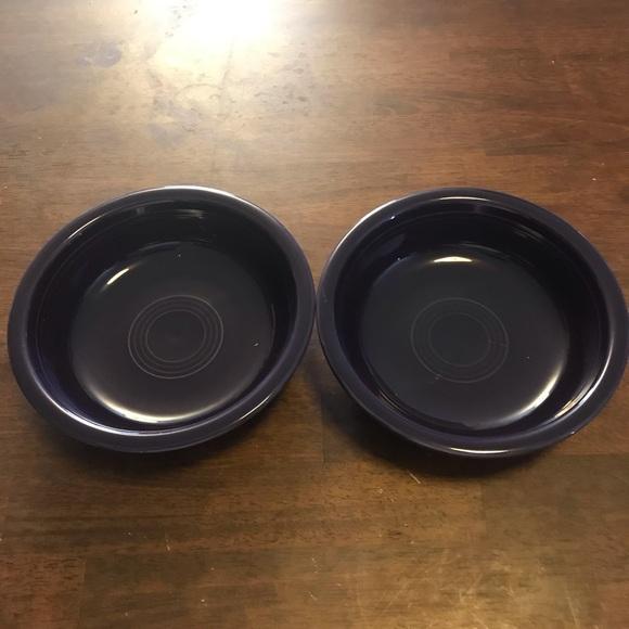 2-Fiesta Shallow Bowls Mulberry Purple